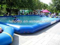 2014 hot sale rectangle inflatable pool rental,large inflatable adult swimming pool