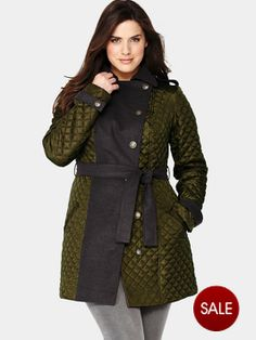 So Fabulous Quilted Trench Coat