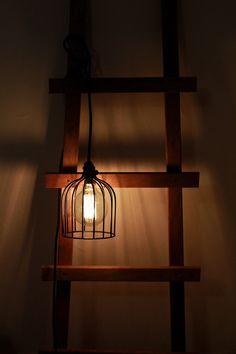 Black wire cage pendant light by valodesign.com.au