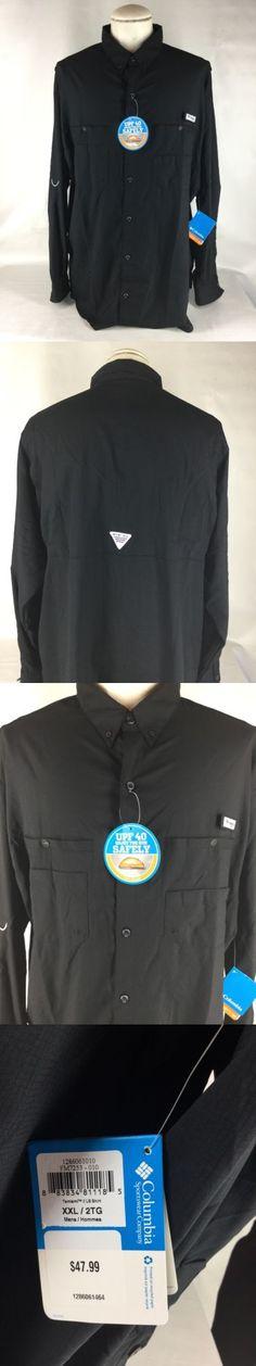 5d89bc30718 Shirts and Tops 179982: New! Mens Columbia Tamiami Ii Pfg Long Sleeve Shirt  Omni Shade Fishing Black 2Xl BUY IT NOW ONLY: $33.9