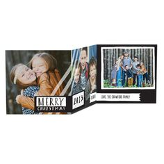 Loving Label - Tri-Fold Holiday Cards in Black or Holiday | Petite Alma