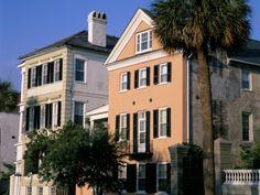 Early 19th Century Town Houses, Historic Centre, Charleston, South Carolina, USA