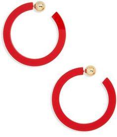 Cara Acrylic Hoop Earrings