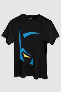 Camiseta Masculina Batman Mask - Batman Shirt - The coolest Batman Shirt ever - Camiseta Masculina Batman Mask Boys T Shirts, Tee Shirts, Batman Shirt, Batman Mask, T Shirt Custom, T Shirt Painting, Geile T-shirts, Batman Outfits, Painted Clothes