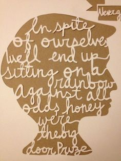 Wedding Song Papercut In Spite of Ourselves by YadyKates on Etsy Music Love, My Music, Short Quotes, Best Quotes, I Love Lucy, My Love, John Prine, That's What She Said, Papercutting