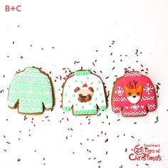 So pugging cute! These gingerbread sweater cookies are sure to warm you up on a cold day.