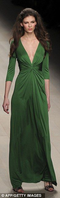 """Stunning green dress from Issa for fall - reminiscent of the famous """"Atonement"""" frock?"""