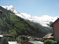 Mont Blanc from Chamonix city. France, Mountains, City, Nature, Travel, Mont Blanc, Naturaleza, Viajes, Cities