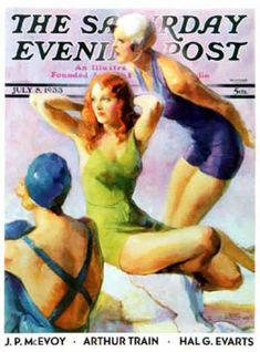 Saturday Evening Post Copyright 1933 Bathing Beauties