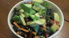 Carrot and Wilted Kale Salad. Raw/Vegan and fabulous!