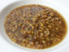 PALM SUGAR AND GINGER SLICE MUNGBEAN SOUP