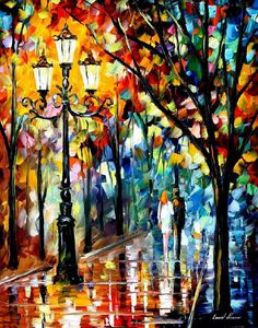 "Kaleidoscope Of Love — PALETTE KNIFE Landscape Modern Wall Art Oil Painting On Canvas By Leonid Afremov - Size: 24"" x 30"" (60 cm x 75 cm)"