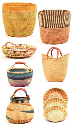 African baskets, nice touch.