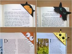 Want your kids to read more? Make them these cute corner bookmarks! Or better yet, sit down and make them together - a great rainy or snow day project!