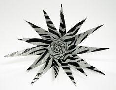 This unique zebra flower is made entirely of duct tape! #duct #tape #crafts