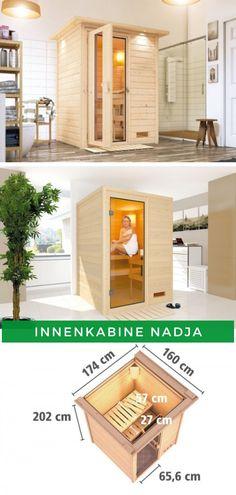 Sauna Ruheraum: Dank der kompakten Größe passt die Innenkabine Nadja sicherlich auch in Ihr Bad und macht es so zu einer echten Wellnessoase. Der Innenraum der Sauna lädt zum Entspannen ein und das nicht nur an kalten Wintertagen. Jetzt kaufen!  #Sauna #Innensauna #Innenkabine #Wellness Nadja, Kabine, Hot Tubs, Divider, Spa, Wellness, Room, Furniture, Home Decor
