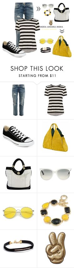 """""""Con cual !!!"""" by rudyclau on Polyvore featuring moda, Current/Elliott, Karen Millen, Converse, Onesixone, Jill Stuart, Ray-Ban, 1st & Gorgeous by Carolee, Shashi e Anya Hindmarch"""