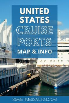 United States Cruise Ports Map and Helpful Information Cruise Port, Cruise Travel, Usa Travel Guide, Travel Usa, American Cruises, Beautiful Places In Usa, Cruise Packages, Visit Usa, Norwegian Cruise Line