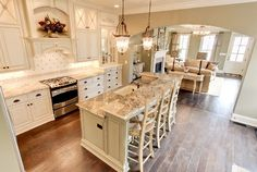 darker counter tops maybe Southern Charm Home - Home Bunch - An Interior Design & Luxury Homes Blog