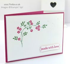 Stampin' Up! UK Demonstrator Pootles - Hopeful Thoughts and CASEing myself....