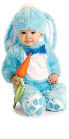Your baby will enjoy their first Easter with this infant blue bunny costume! The adorable baby rabbit costume includes a blue romper and makes a cute Halloween costume too. Baby Bunny Costume, Bunny Halloween Costume, Rabbit Costume, Infant Halloween, Spirit Halloween, Halloween Kids, Halloween Christmas, Halloween Stuff, Easter Costumes For Kids