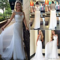 White Sequins Evening Dresses 2016 New Sexy Sheer Illusion Neck Crystal Beads Chiffon Long Floor Length Cheap Pageant Party Prom Gowns Evening Dresses China Evening Dresses From China From One Stopos, $94.25| Dhgate.Com