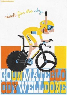 Go on mate! #TdF #2012 #illustration