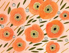 Painterly florals.