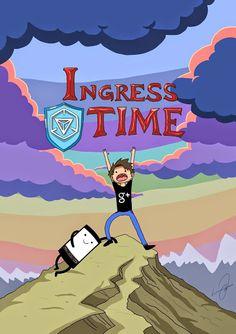 Ingress adventure time!