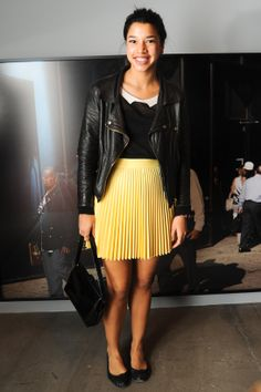 Perfect Pleated Skirt on Hannah Bronfman Vogue Paris