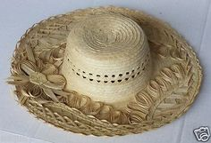 #women hat : women straw hat size L (58) natural palm straw made in Guatemala  (004) withing our EBAY store at  http://stores.ebay.com/esquirestore