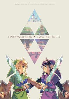 Two worlds, two heroes Ravio and Link <3