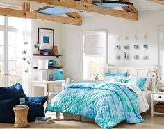 Teenage Girl Bedroom Ideas | Tie-Dye Bedding | PBteen
