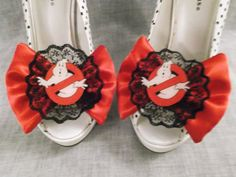 Hey, I found this really awesome Etsy listing at https://www.etsy.com/listing/201792013/ghostbusters-lace-satin-bow-shoe-clips
