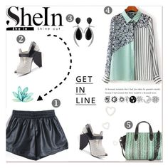 """SheIn: Shorts"" by delucia ❤ liked on Polyvore featuring Abcense, Jorge Adeler, Alexander Wang, Lipsy, women's clothing, women, female, woman, misses and juniors"