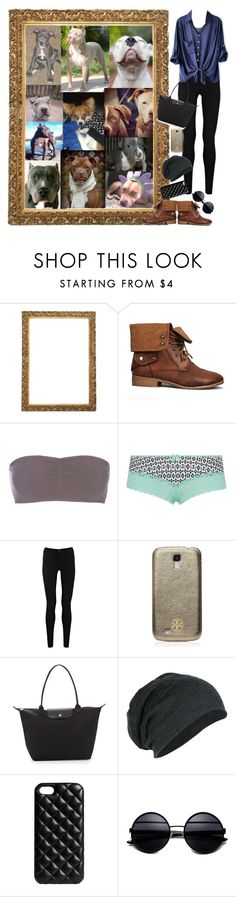 """""""Hanging with pit bulls and Penelope!"""" by rebekah3383 ❤ liked on Polyvore featuring Roxy, Piranesi, ONLY, Oasis, Tory Burch, Longchamp and The Case Factory"""