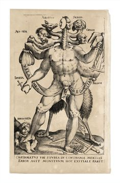 Allegory of the Five Obstinate Monsters, 1575-1618