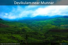 Devikulam is 7 kms off #Munnar. Scenic valleys, lush green tea estates, lively lakes, springs and sparkling streams await you here. Relax, rejoice and rejuvenate yourself, that's what this small-little hill retreat is all about. Know more about places to visit in Munnar, #Kerala. #Travel | #India