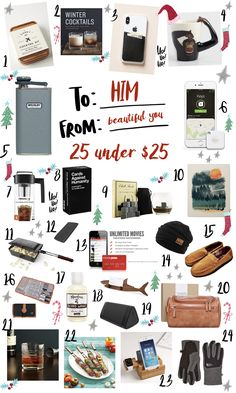 6c7594ca9268 Check out these 24 gifts under  25 dollars for the man in your life! From  portable speakers to beard washes and cozy home slippers all under  25  dollars!