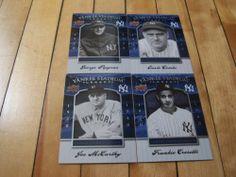 George Pipgras Joe #McCarthy Earle Combs Crosetti #2008 UD Yankee Stadium Legacy Lot | #eBay #sportscardauctions
