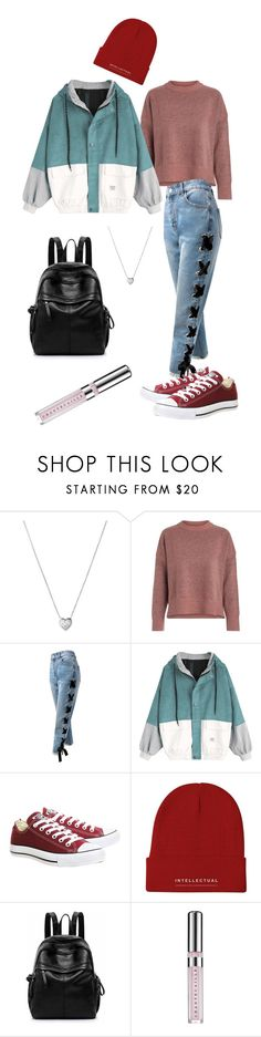"""""""Teen Spirit"""" by olga-litvin ❤ liked on Polyvore featuring Links of London, Sans Souci, Converse and Chantecaille"""