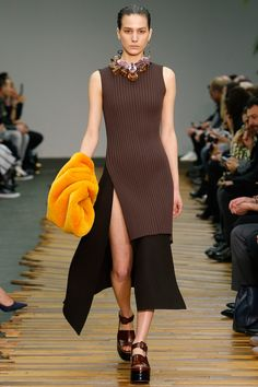 Céline | Fall 2014 Ready-to-Wear Collection | Style.com  Tunic knit layered over midi skirt