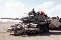 A U.S. Marine Corps M-60A1 main battle tank