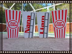 Custom personalized popcorn tubs / cups PERFECT for party favor .