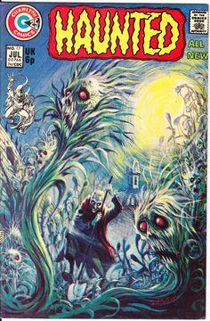 Haunted 17 Charlton Comics Tom SUTTON Flesh Eating Plants by LifeofComics Horror #horrorfan Halloween Comics #comicbooks