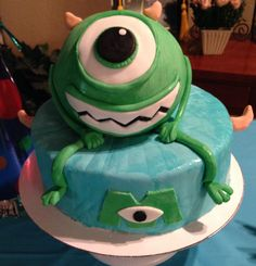 Mike Wazowski Birthday Cake!