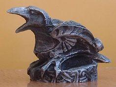 Mini Celtic Raven candle holder. (By Paul Borda, Dryad Design).