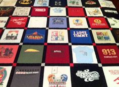 Custom TShirt Quilt King MachineQuilted by WildZipper on Etsy, $100.00