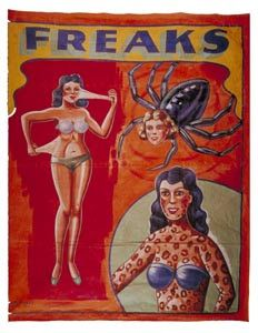 thinking of redoing the living room in freak show vintage posters
