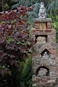 secret garden ART can be sprinkled throughout the cottage garden to give visitors some more eye candy and things to admire while relaxing in the secret garden Gate Post, Garden Gates, Garden Bar, Garden Junk, Cottage Gardens, Garden Sheds, Easy Garden, Herb Garden, Garden Features